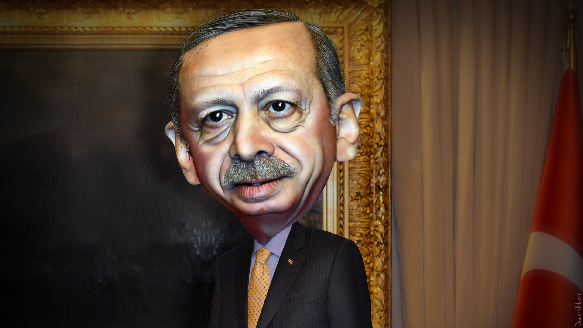 Recep Tayyip Erdogan (Illustration by Donkey Hotey / Flickr