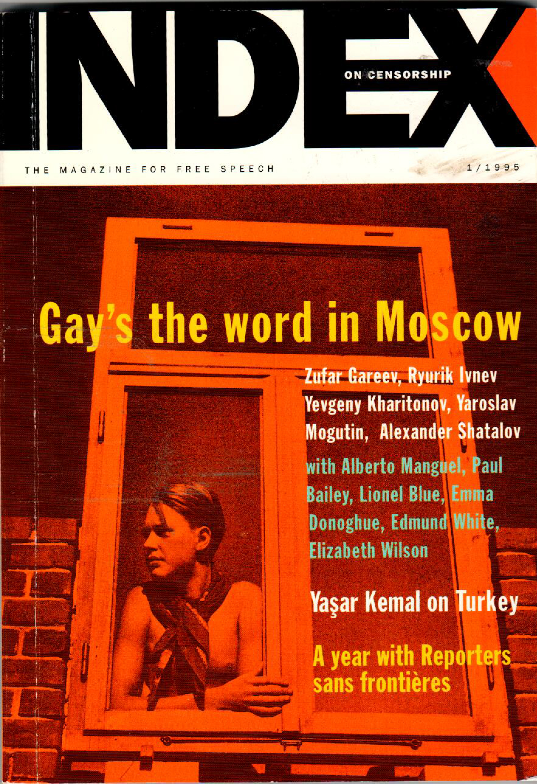 Gay's the word in Moscow, the January 1995 issue of Index on Censorship magazine.