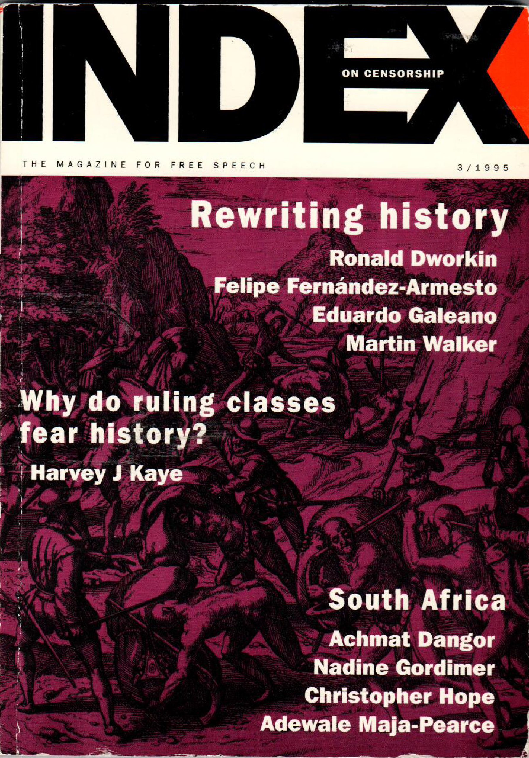 Rewriting history, the May 1995 issue of Index on Censorship magazine