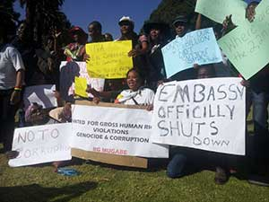 Protest in Zimbabwe