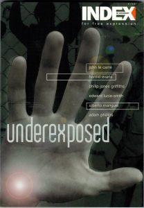 Underexposed, the November 1999 edition of Index on Censorship magazine.