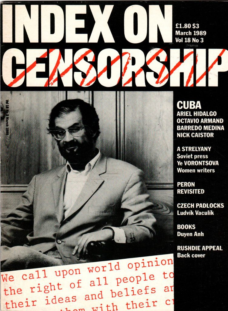 Cuba today, the March 1989 issue of Index on Censorship magazine.