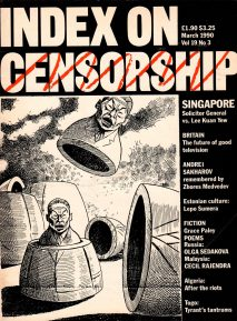 Singapore Solicitor General vs. Lee Kuan Yew, the March 1990 issue of Index on Censorship Magazine.