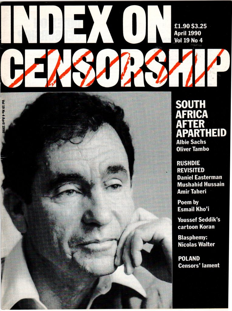 South Africa after Apartheid, the April 1990 issue of Index on Censorship magazine.