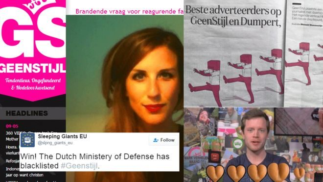 Dutch journalists launched a campaign to pressure advertisers into reconsidering advertising on sites that denigrate women.