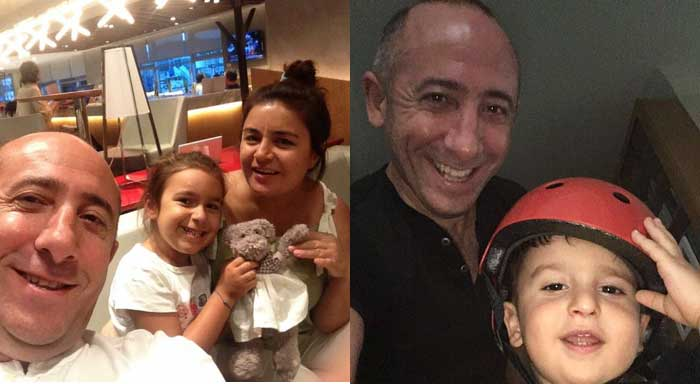 Journalist Murat Aksoy has been detained since his first arrest on 3 September 2016. Above, Aksoy with his wife Şehriban, daughter Zehra Duru and son Ali Emre.