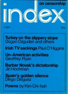 Turkey on the slippery slope, the Spring 1973 issue of Index on Censorship magazine