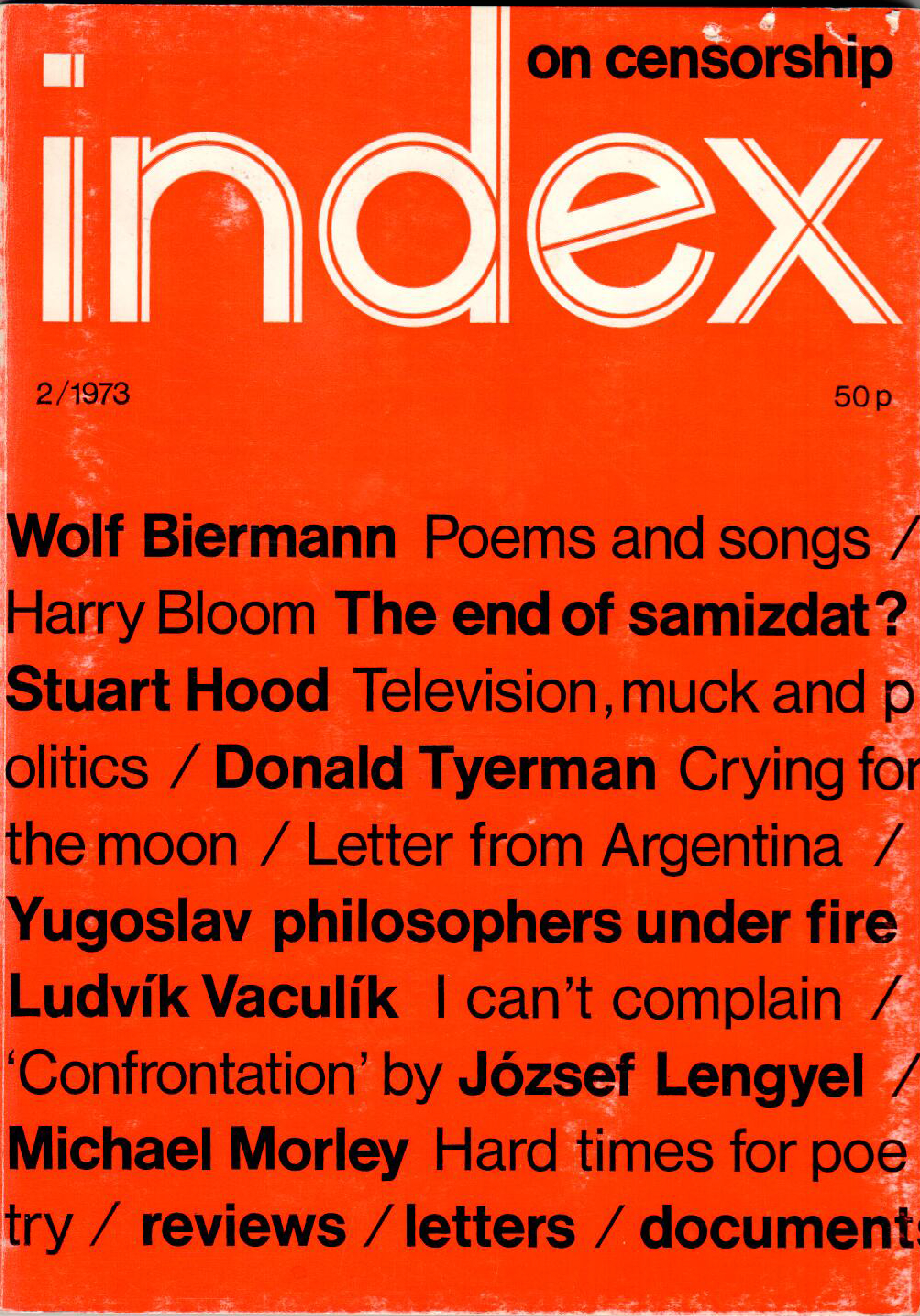The end of samizdat?, the Summer 1973 issue of Index on Censorship magazine