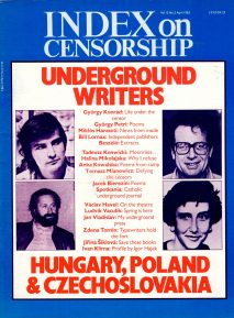 Underground writers: Life under the censor, the April 1983 issue of Index on Censorship magazine.