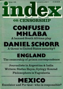 Confused Mhlaba: a banned South African play, the Winter 1976 issue of Index on Censorship magazine