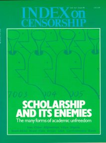 Scholarship and its enemies, the October 1981 issue of Index on Censorship magazine