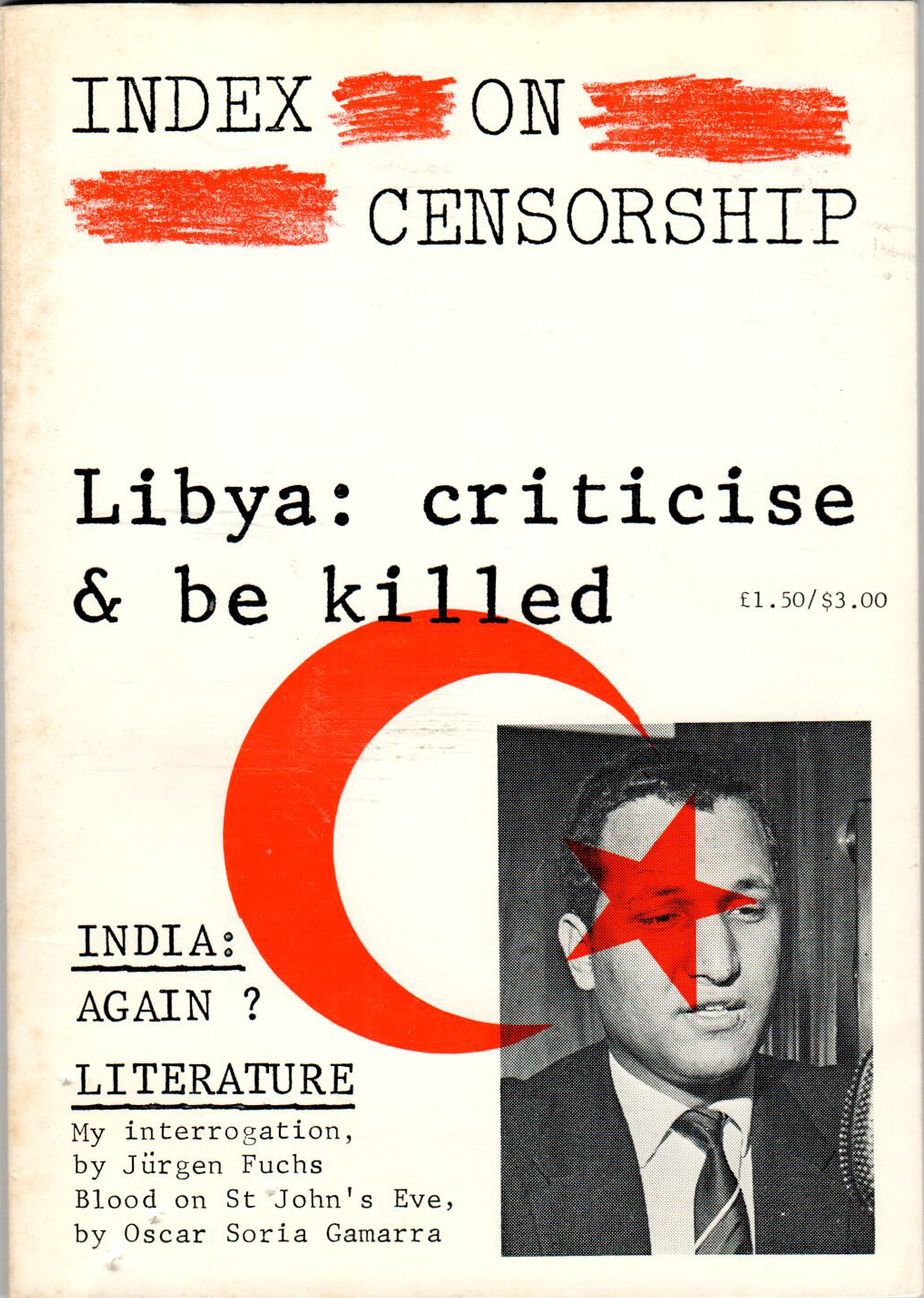 Libya: Criticise & be killed, the December 1980 issue of Index on Censorship magazine