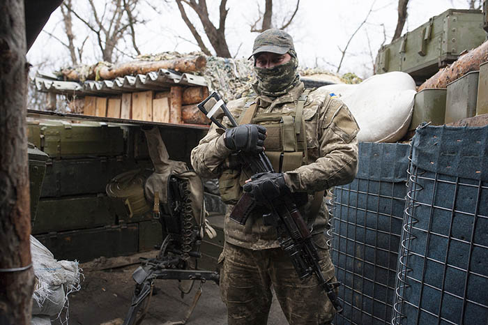 Ukrainian post control before separatist zone (Credit: Geoffrey Froment/Flickr)