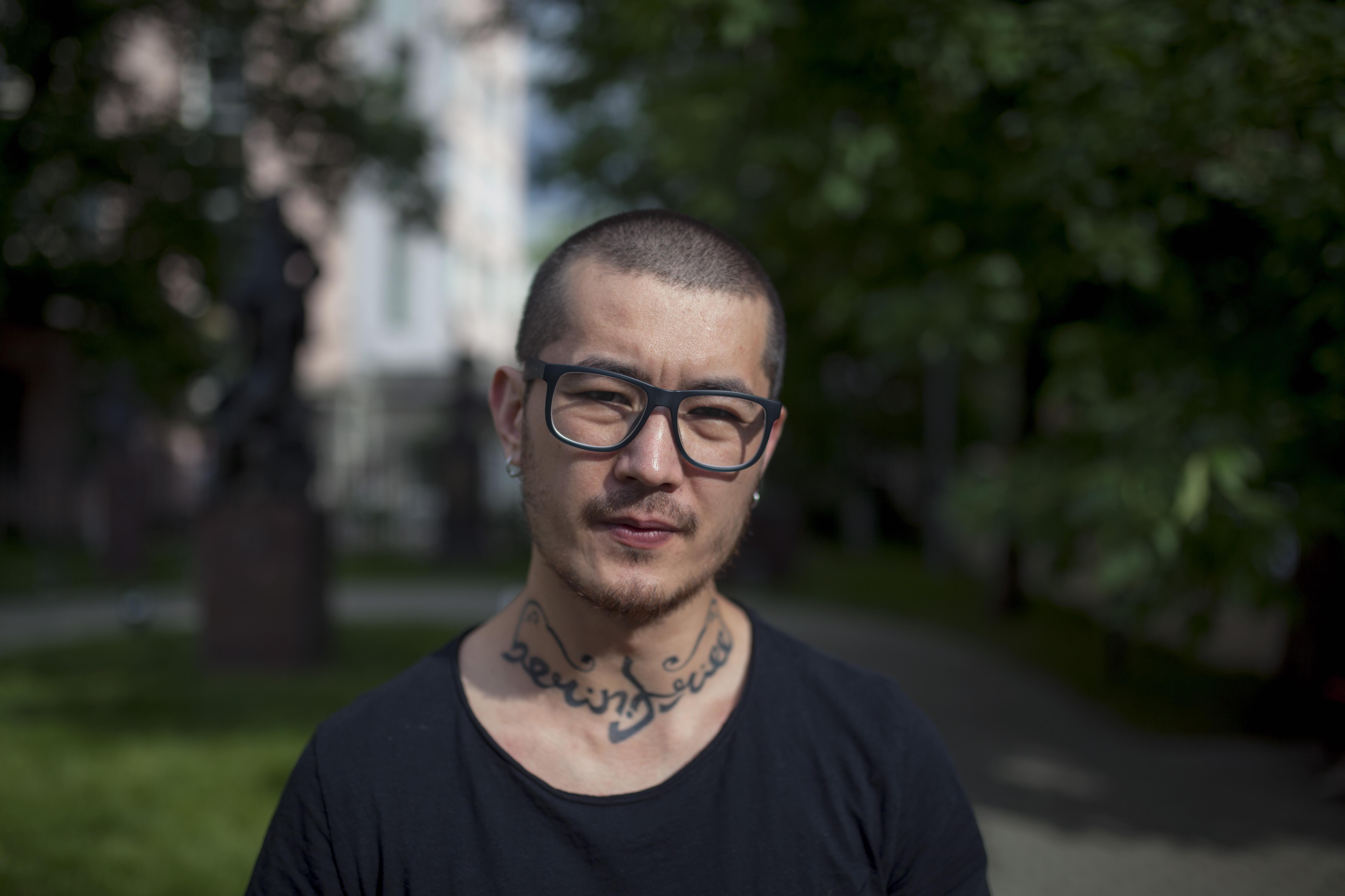 Uzbek journalist Khudoberdi Nurmatov (Ali Feruz) (Photo: Vlad Dokshin, Novaya Gazeta)