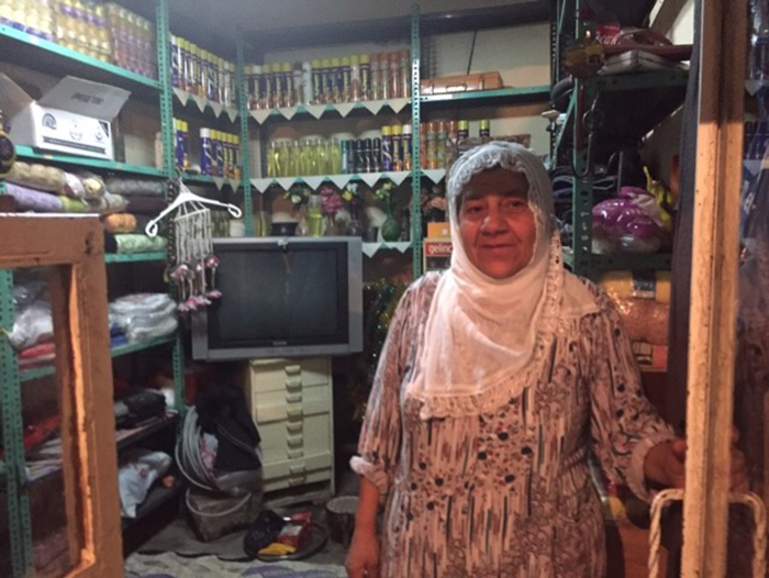 "Mevlüde Ak was born and grew up in a house in Sur. She gave her house in Sur to her married, unemployed son. She lives with her husband in their small shop. After closing time, they put down beds on the floor and sleep there. Mevlüde Ak says ""They offered me 60,000 Lira for our house. This money would not be enough for us to buy a new home. We're not leaving. If they wish, let them bring it down on top of us."""