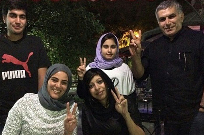 Back Row from left: Adam Rajab, Malak Rajab and Nabeel Rajab. Front Row from left: Sumaya Rajab & Zainab Alkhawaja. (Photo: Adam Rajab)