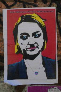 Laura Kuenssberg street art (Credit: duncan c / Flickr)