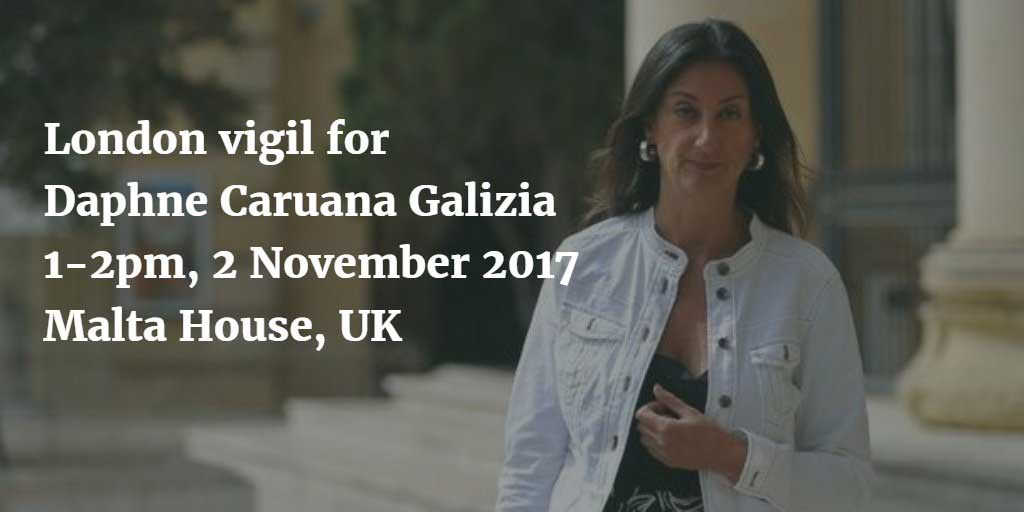 Vigil for Daphne Caruana Galizia
