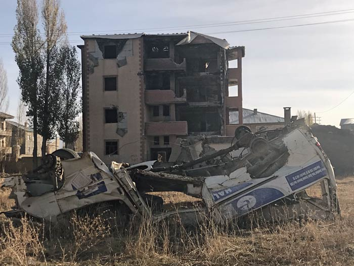 Destruction is still visible in some areas of Yüksekova