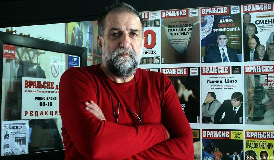 Vukasin Obradovic, founder and editor-in-chief of local Serbian weekly Vranjske Novine.