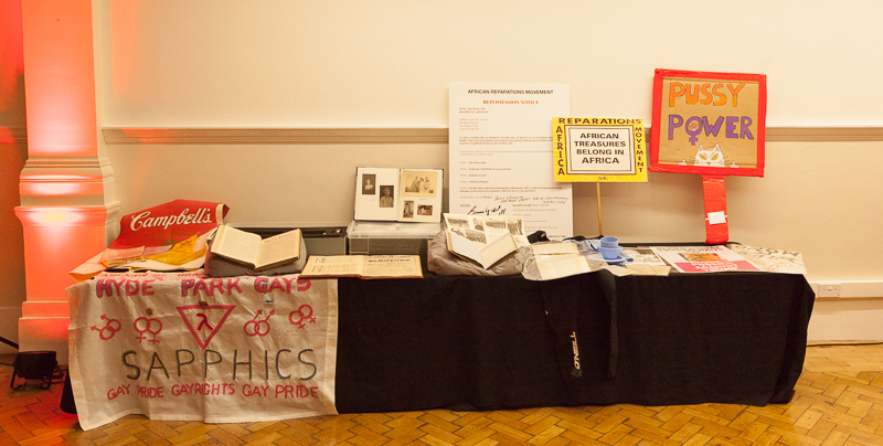 Disobedient objects at the launch of What price protest? (Photo: Sean Gallagher / Index on Censorship)