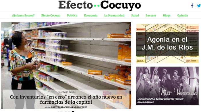 Latin America is home to a growing number of independent publications, like Venezuela's Efecto Cocuyo, that do not depend on government advertising