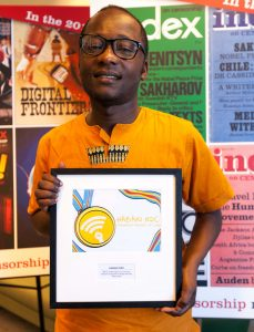Congolese digital activist Guy Muyembe of 2018 Freedom of Expression Digital Activism Award-winning Habari RDC (Photo: Index on Censorship)