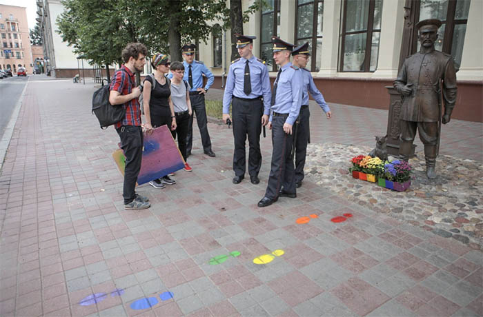 Belarus Free Theatre students arrested over LGBTQ+ art installation
