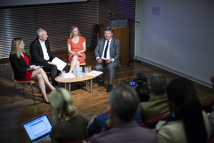 Rebecca Vincent, Dave Banisar, Jodie Ginsberg and Paddy Coulter (Photo: Nekane / @nekaneozamiz / www.nkproductions.org for Article 19)