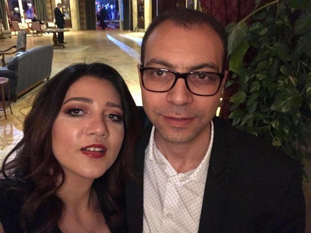 Amal Fathy with her husband Mohamed Lotfy