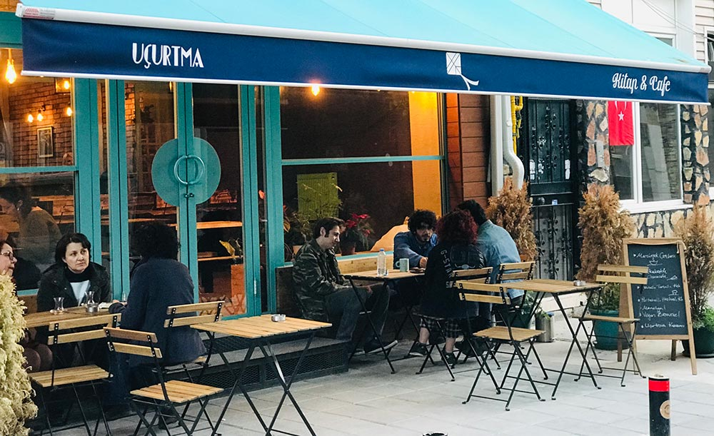 Opened on 6 October 2018, Uçurtma Café includes a screening are and a workshop studio on the basement floor used for events.