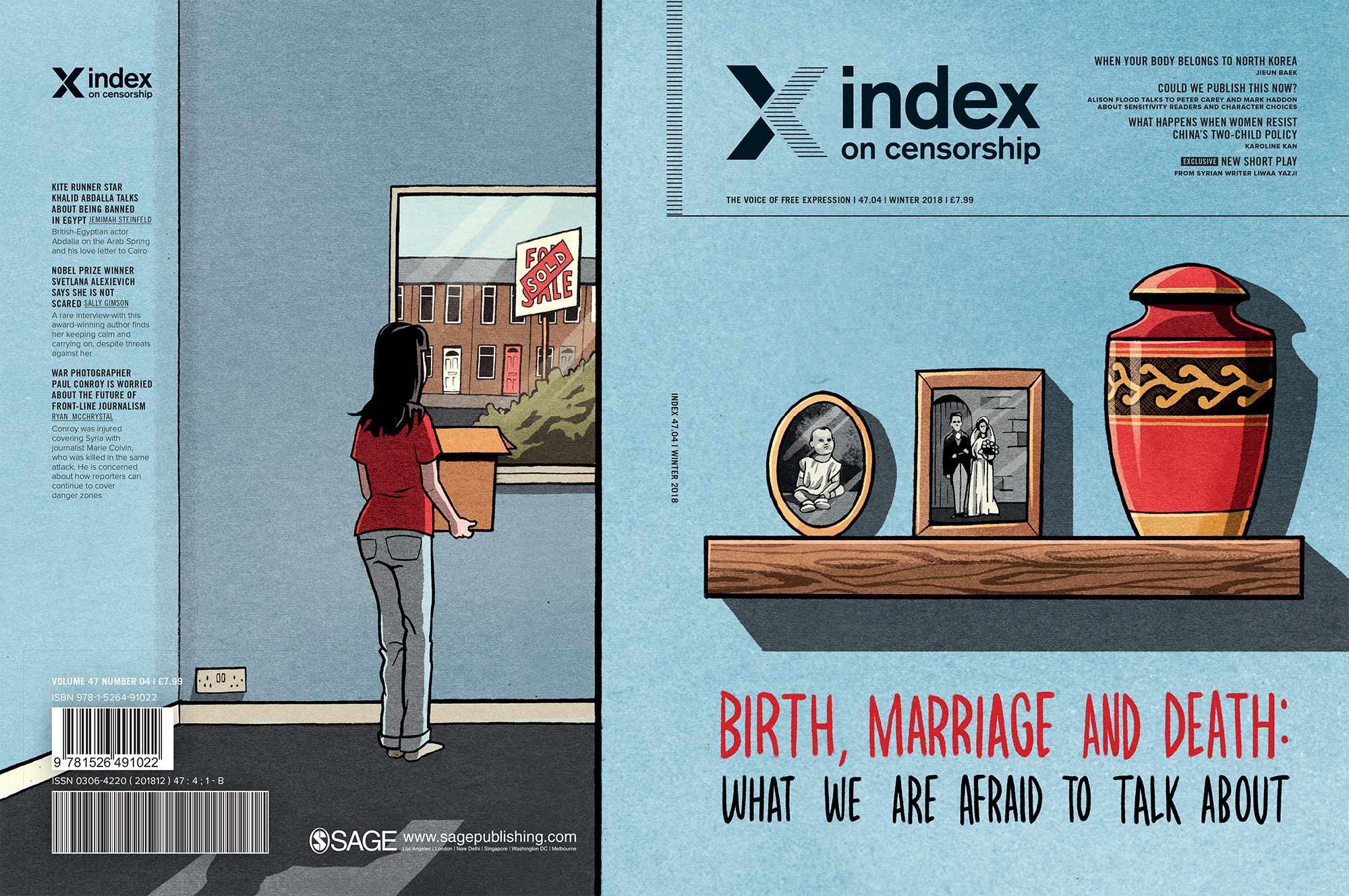 Birth, Marriage and Death, the winter 2018 issue of Index on Censorship magazine