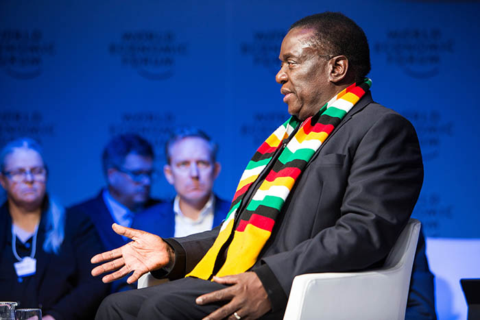 Emmerson Mnangagwa at the World Economic Forum in Davos, 23 January 2019 (Credit: World Economic Forum)