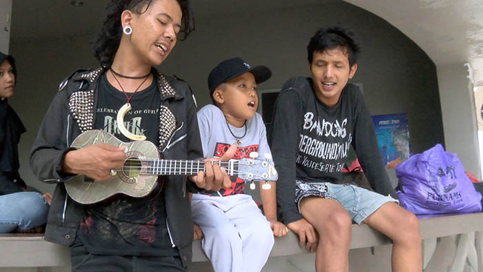 Still from Street Punk! Banda Aceh, a documentary about Indonesia's punk scene and the difficulties it faces from religious fundamentalism