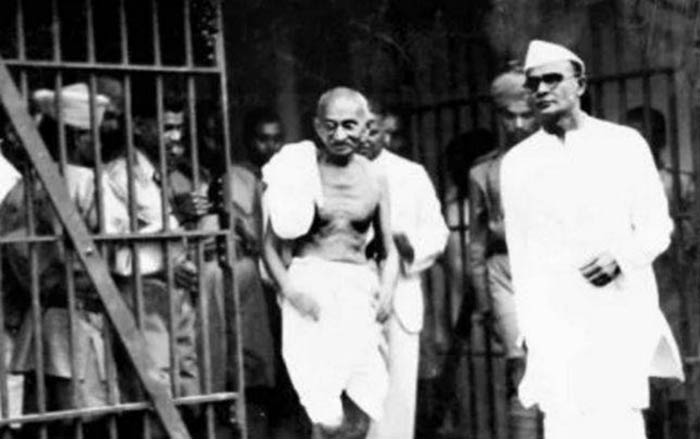 Mahatma Gandhi during his trial for sedition in Match 1922