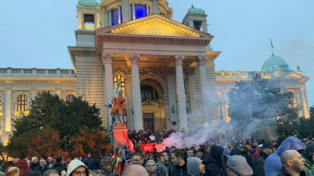 Serbians have been protesting government policies toward the media.