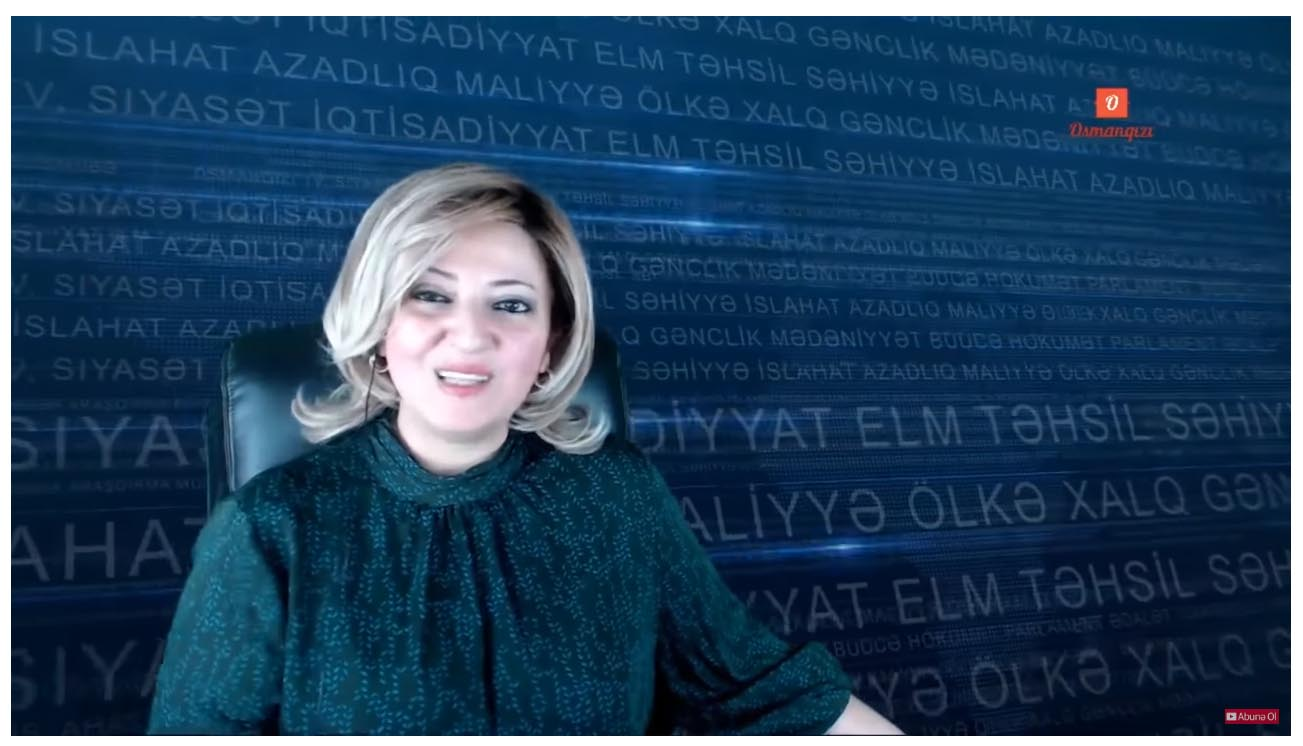 Sevinc Osmanqizi has been targeted for her YouTube videos criticising the Azerbaijani government.