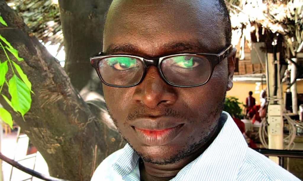 Journalist Erick Kabendera, arrested in Tanzania. Photograph supplied