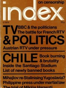 March 1974: TV, politics and Chile Index on Censorship magazine