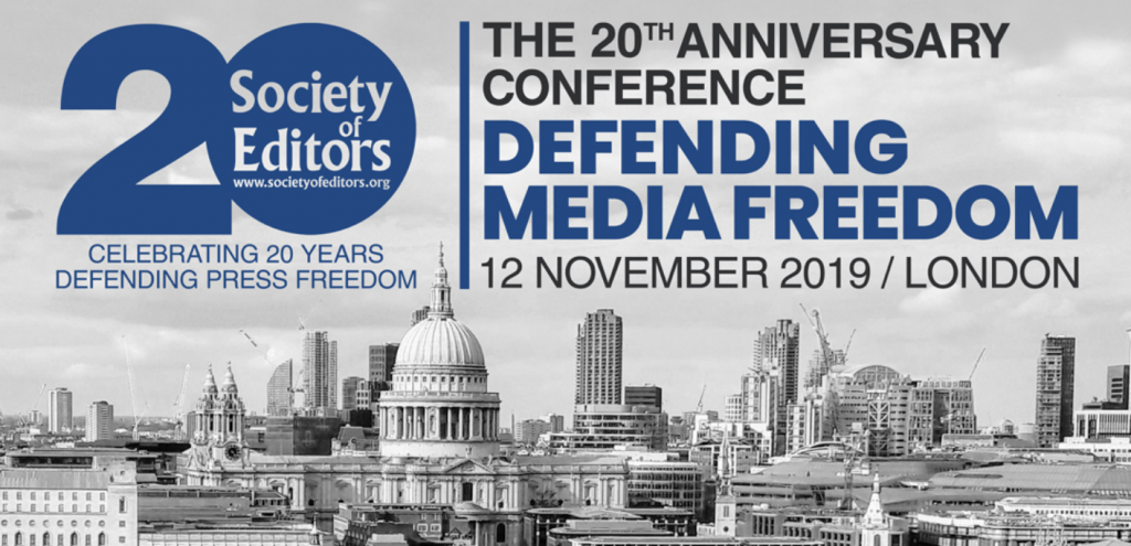 Society of Editors media freedom conference