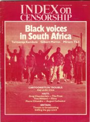Black voices in South Africa, the December 1984 issue of Index on Censorship magazine