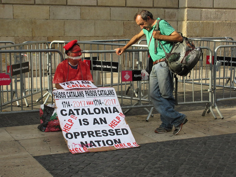 A political protest in Spain, November 2017. Credit: NH53/Flickr