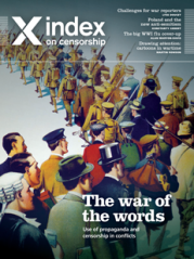 The war of the words, the March 2014 issue of Index on Censorship magazine