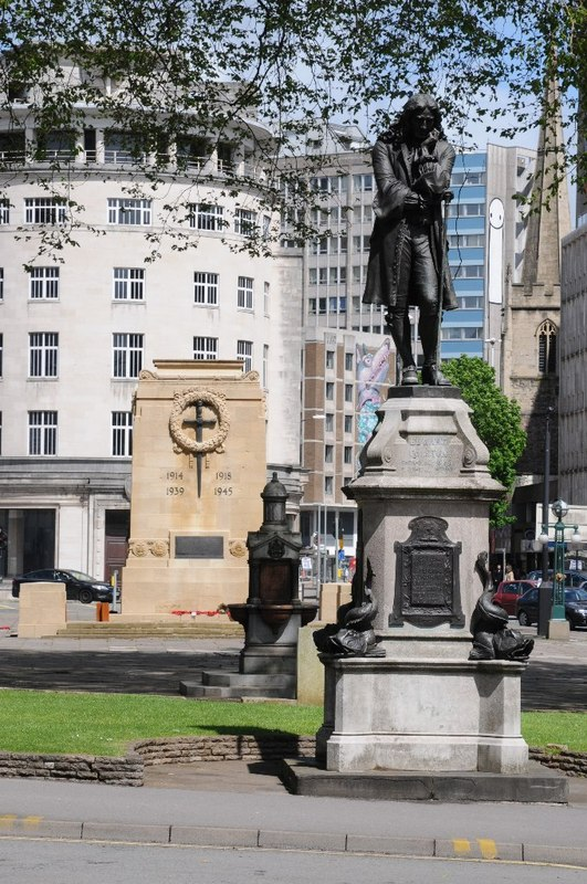 Statue of Edward Colston in Bristol, which has since been taken down. Credit: Philip Halling