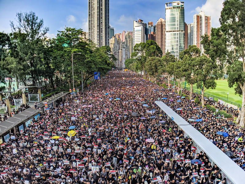 Millions took to the streets in June 2019 to protest the extradition bill. Credit: Studio Incendo/Flickr